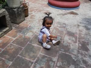 LIttle girl in Antigua