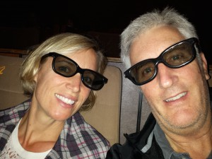 At the movies! We went to see Captain America in 3D. Only English language choice and better than Johny Depp's last bomb