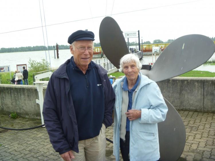 Konrad and his sister Nono in Hamburg Summer 2011