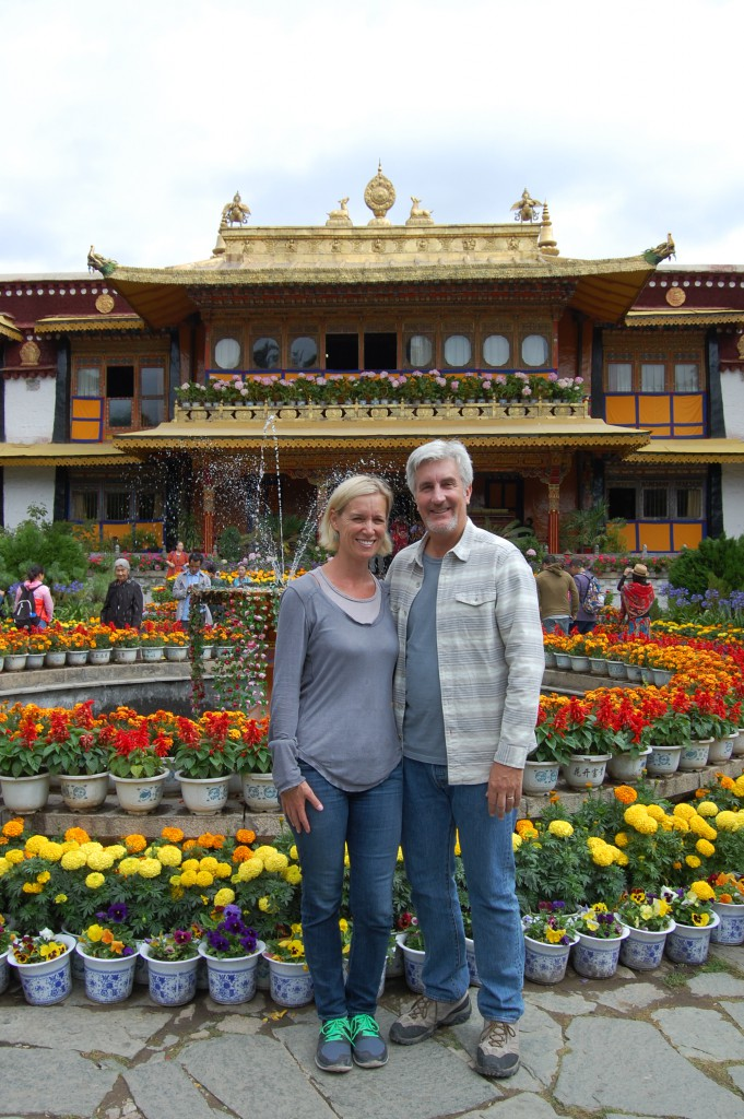In front of the 14th Dalai Lama's Summer Palace