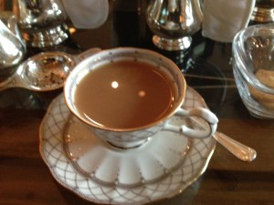 Tea service at the Grand Hyatt
