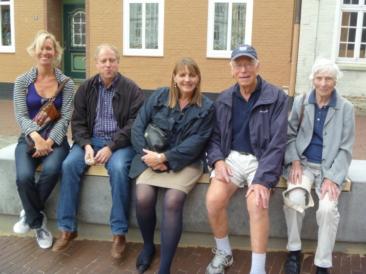 with sister Nono, nephew Erdmann and his wife Susanne