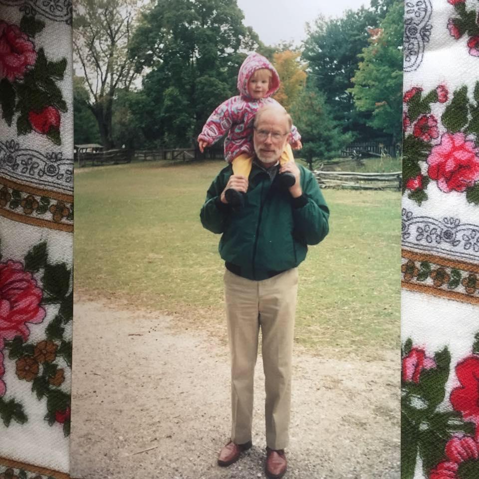 Grandpa with Sydney ca 1993
